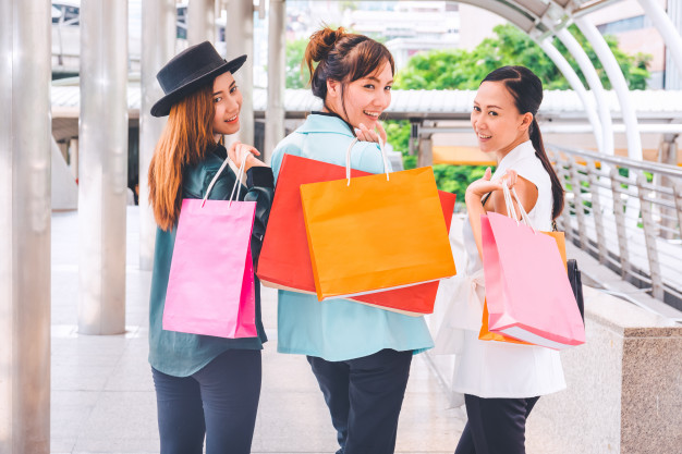 Women enjoying a shopping trip